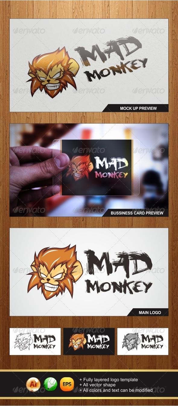 Mad Monkey Logo - Animals Logo Templates