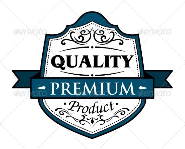 Quality Premium Product Badge - Decorative Symbols Decorative