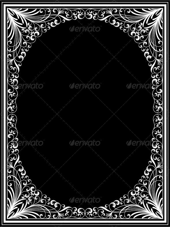 Vintage floral frame - Borders Decorative