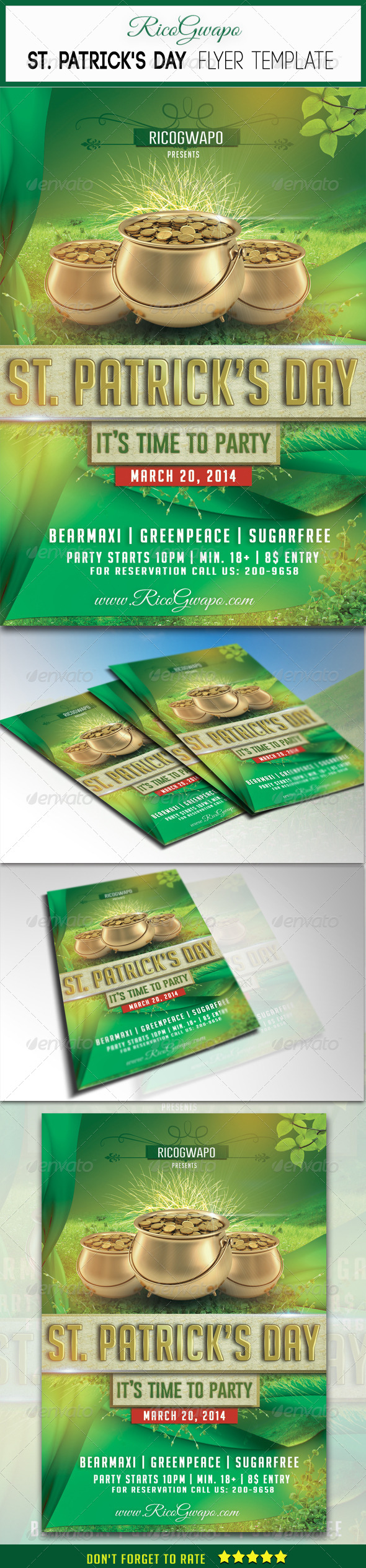 St. Patrick's Flyer Template - Flyers Print Templates