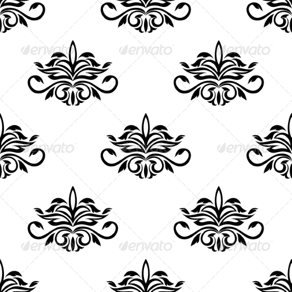 Seamless Pattern for Damask Style Fabric - Patterns Decorative