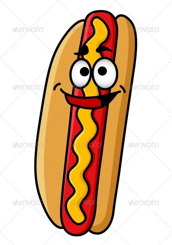 Happy Hot Dog - Food Objects