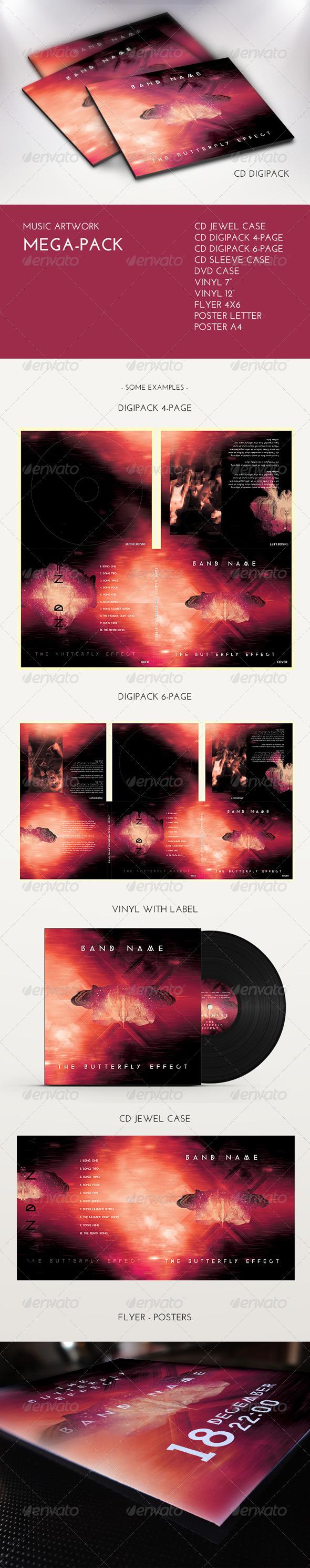 Music Artwork Mega Pack - CD & DVD Artwork Print Templates