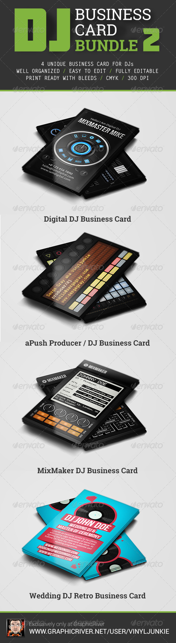 DJ Business Card Bundle 2 - Industry Specific Business Cards