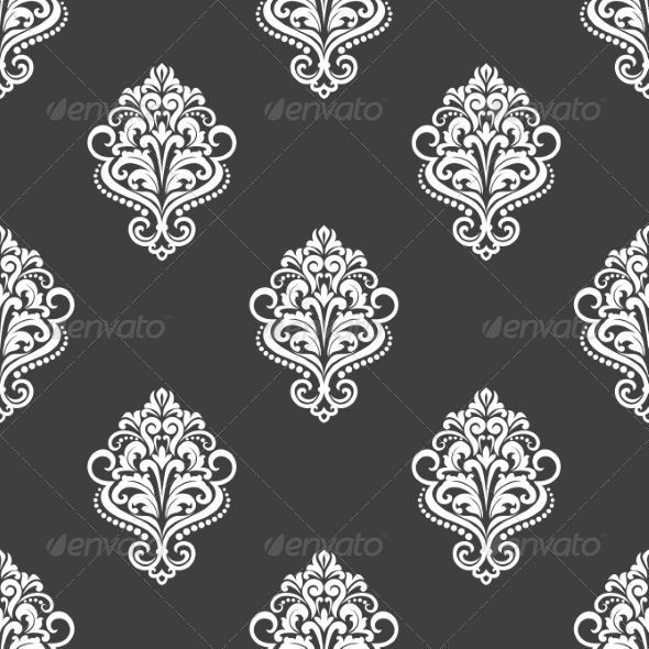 Geometric Seamless Pattern with Floral Motifs - Patterns Decorative