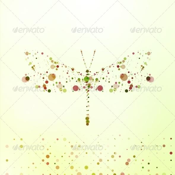 Abstract Dragonfly - Decorative Symbols Decorative