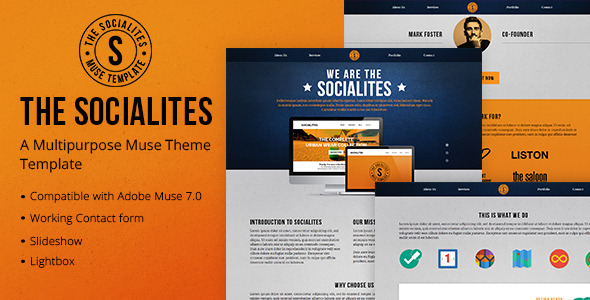 The Socialites - A One Page Muse Template