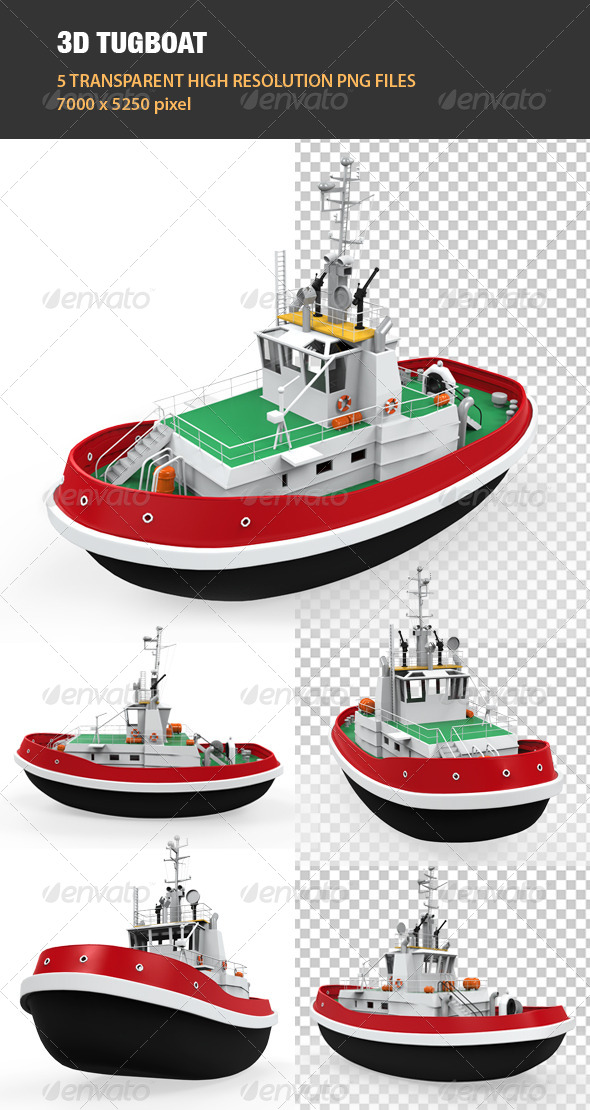 3D Tugboat - Objects 3D Renders