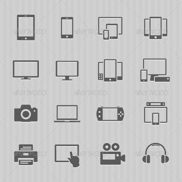 Communication Device Icons - Computers Technology