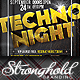 Download Techno Night Club Party Flyer Template from GraphicRiver