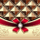 Gift Cards with Geometric Pattern Bow Ribbon  - GraphicRiver Item for Sale