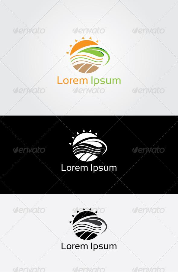 Sun Farm Logo - Nature Logo Templates