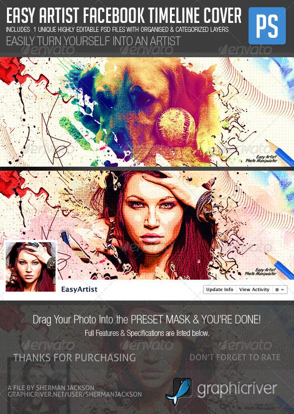 Easy Artist Facebook Timeline Cover - Facebook Timeline Covers Social Media
