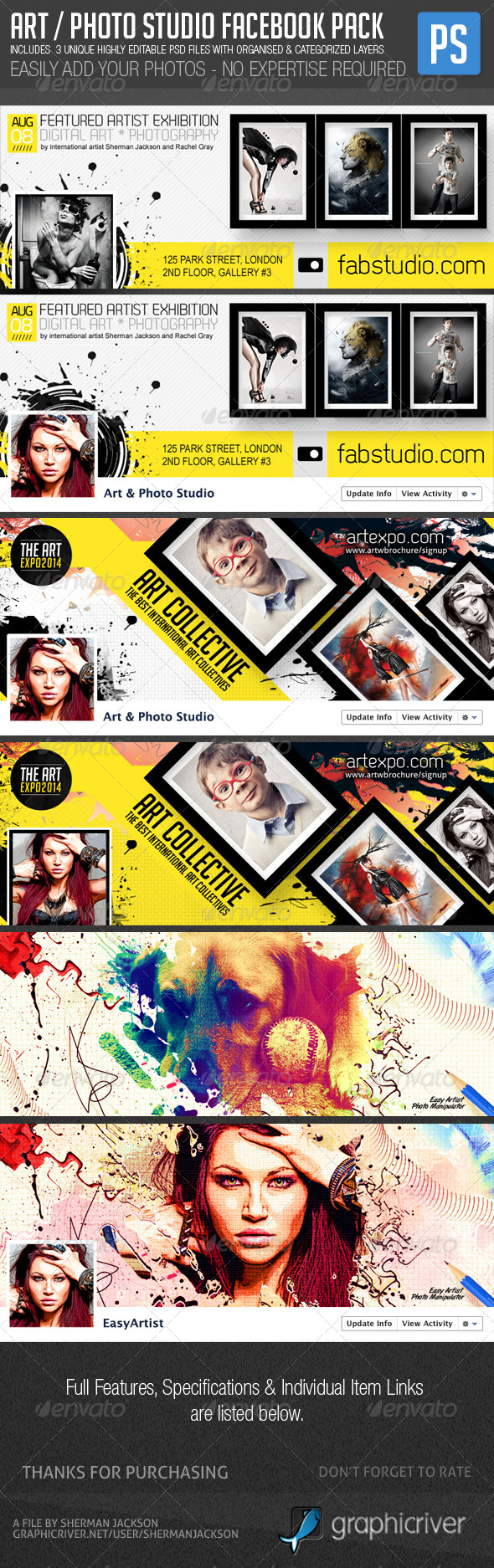 Art Photo Facebook Cover Premium Pack - Facebook Timeline Covers Social Media