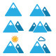 Mountain Winter Vector Icons Set  - GraphicRiver Item for Sale