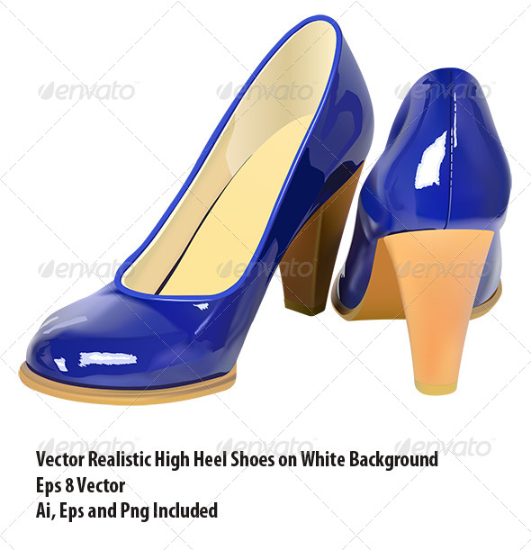 High Heel Shoes - Objects Vectors