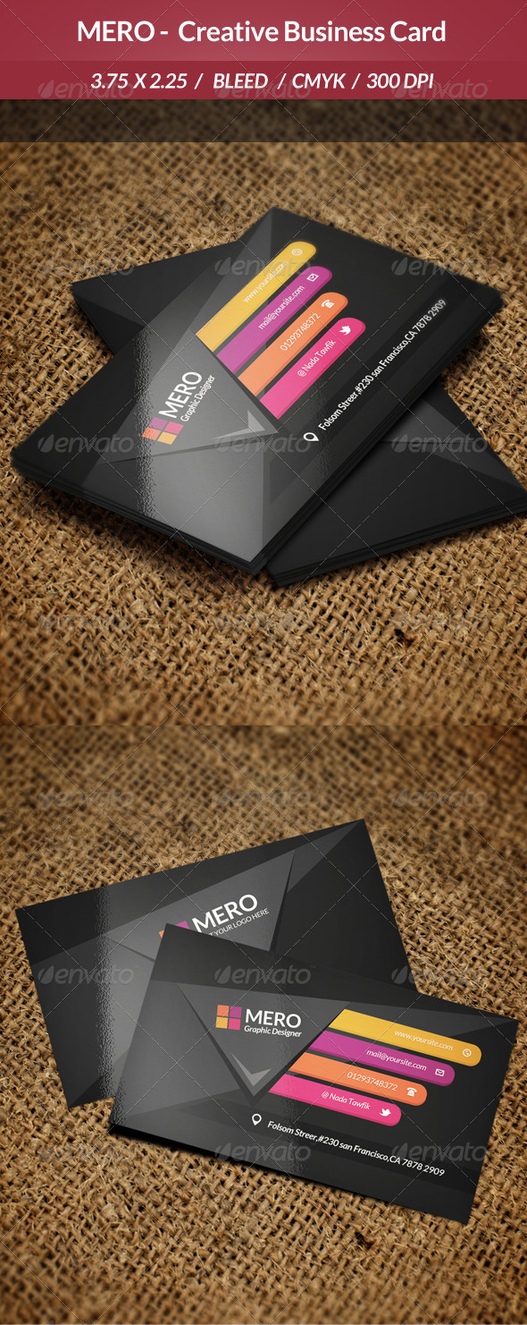 Mero - Creative Business Card - Business Cards Print Templates