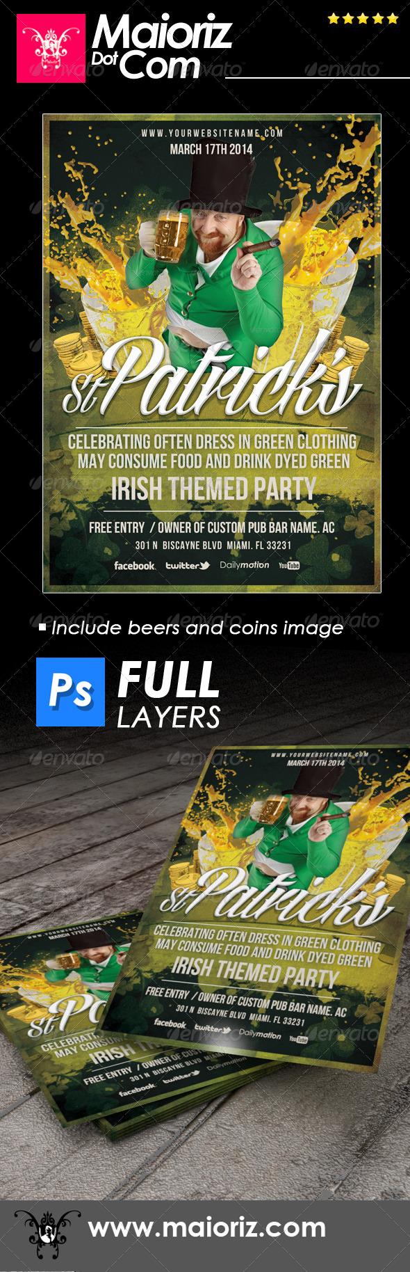 St Patricks Day Flyer - Holidays Events