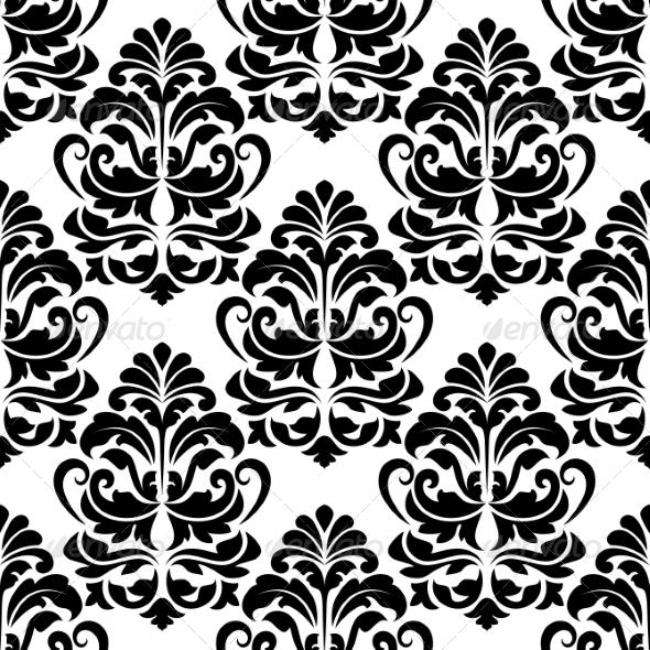 Heavy Arabesques Seamless Pattern - Patterns Decorative