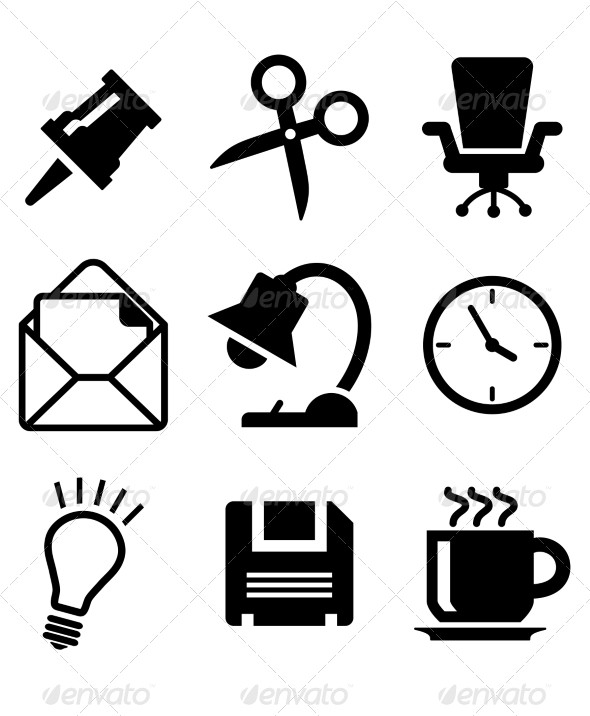 Set of Office Icons - Web Elements Vectors
