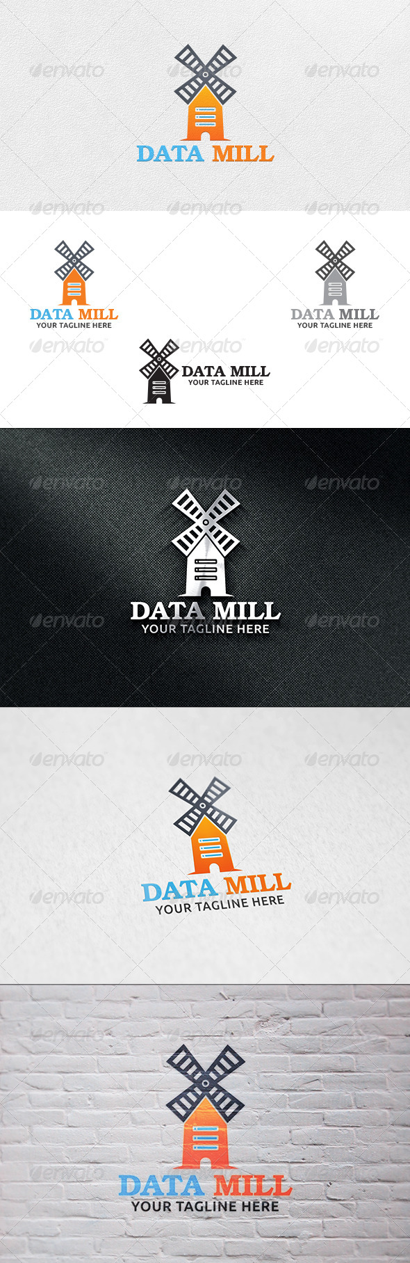 Data Mill - Logo Template - Buildings Logo Templates