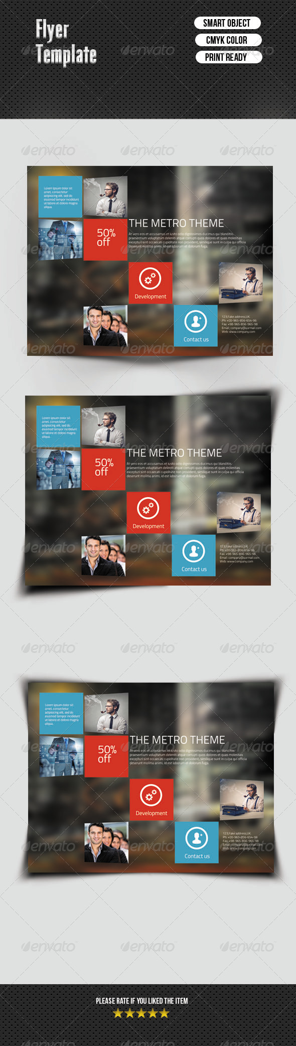Metro Style Corporate Flyer - Corporate Flyers