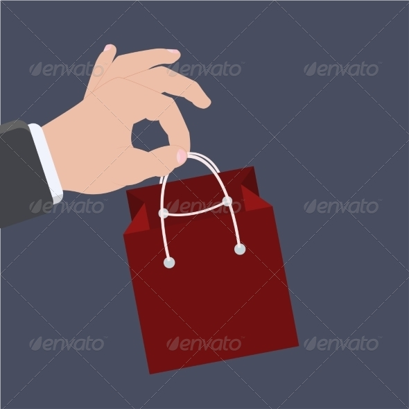 Flat Icons on Sample Background - Retail Commercial / Shopping