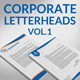 Corporate Letterheads Vol.1 - GraphicRiver Item for Sale