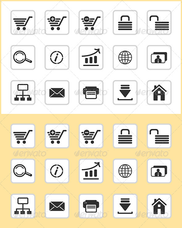 E-Commerce Icons - Web Elements Vectors