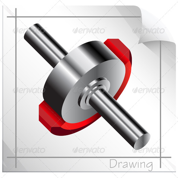 Technical Illustration Cut Out Section - Technology Conceptual