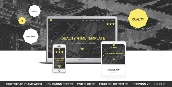 Duality – Portfolio and Apps HTML5 Template