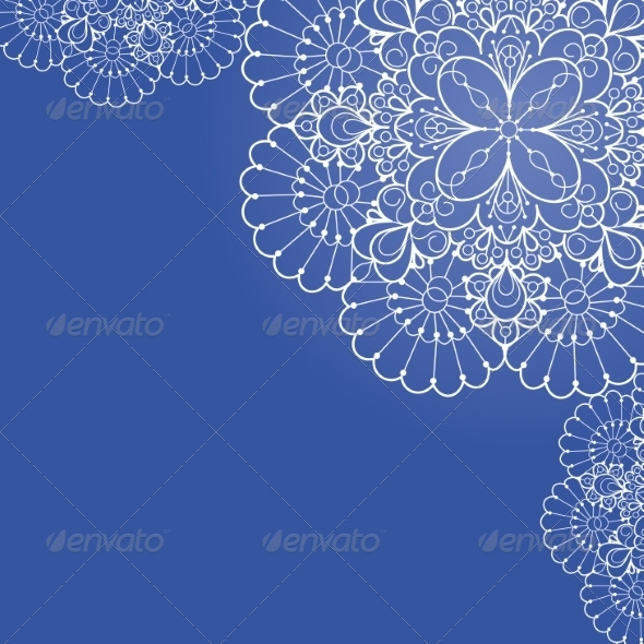 Background with Lace Ornament. - Decorative Symbols Decorative