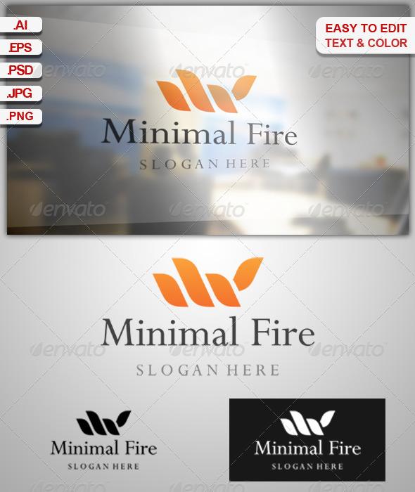 Minimal Fire - Symbols Logo Templates