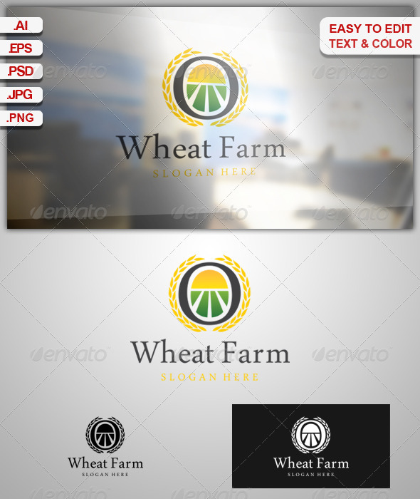 Wheat Farm - Nature Logo Templates