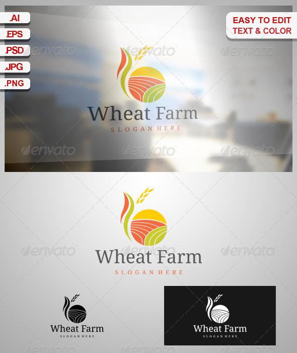 Wheat Farm - Nature Logo Templates