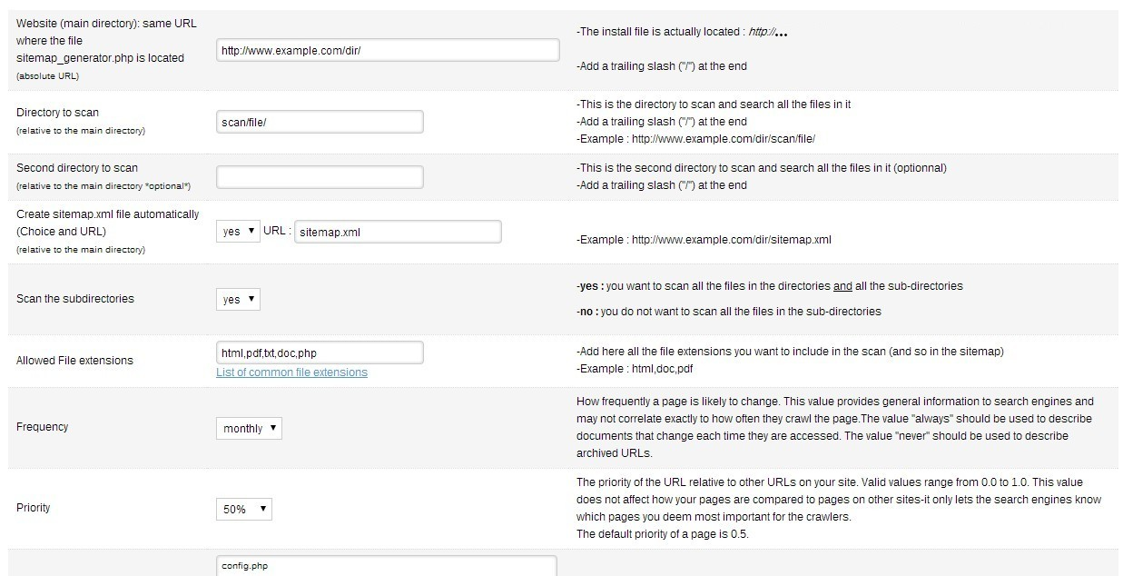 sitemap generator with directory scan by seo tools codecanyon