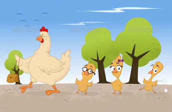 Chicken Family - Vectors