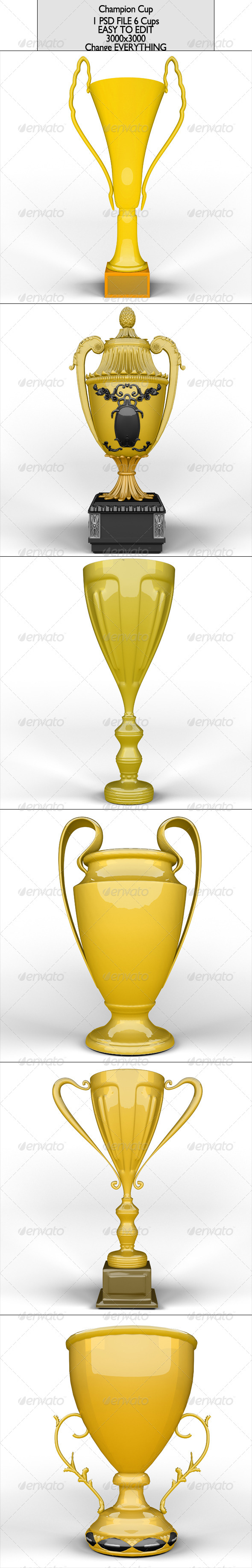 Champion Cup Pack  - 3D Renders Graphics