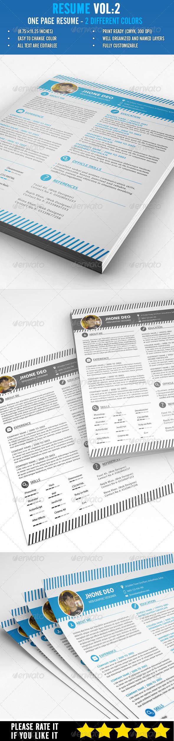 Resume Vol:2 - Resumes Stationery
