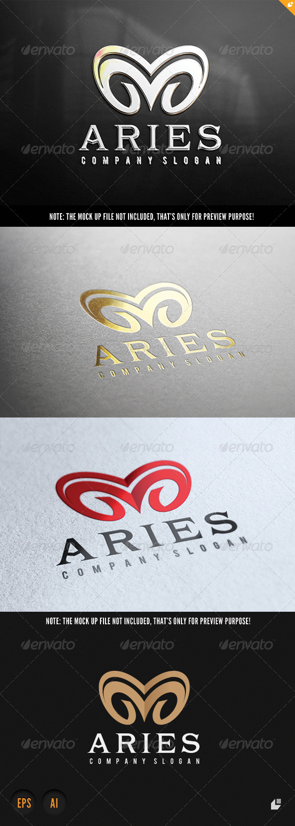 Aries Logo - Animals Logo Templates