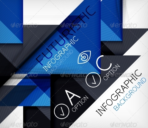 Triangle Geometric Shape Infographic Background - Backgrounds Decorative