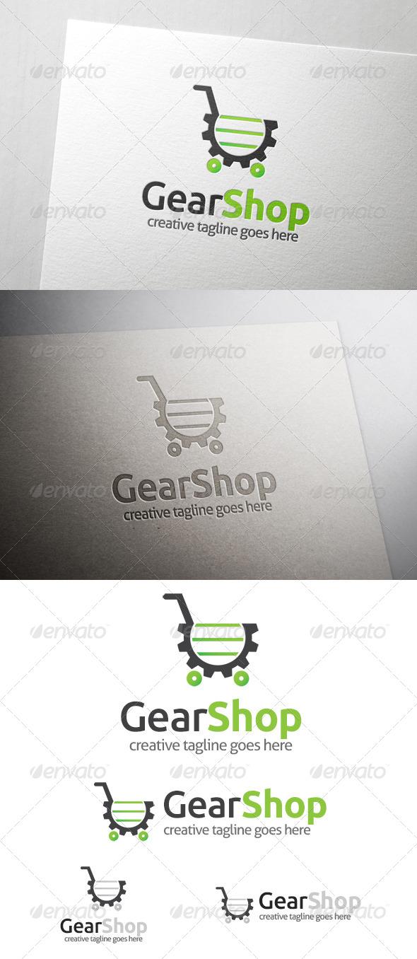 Gear Shop Logo - Objects Logo Templates