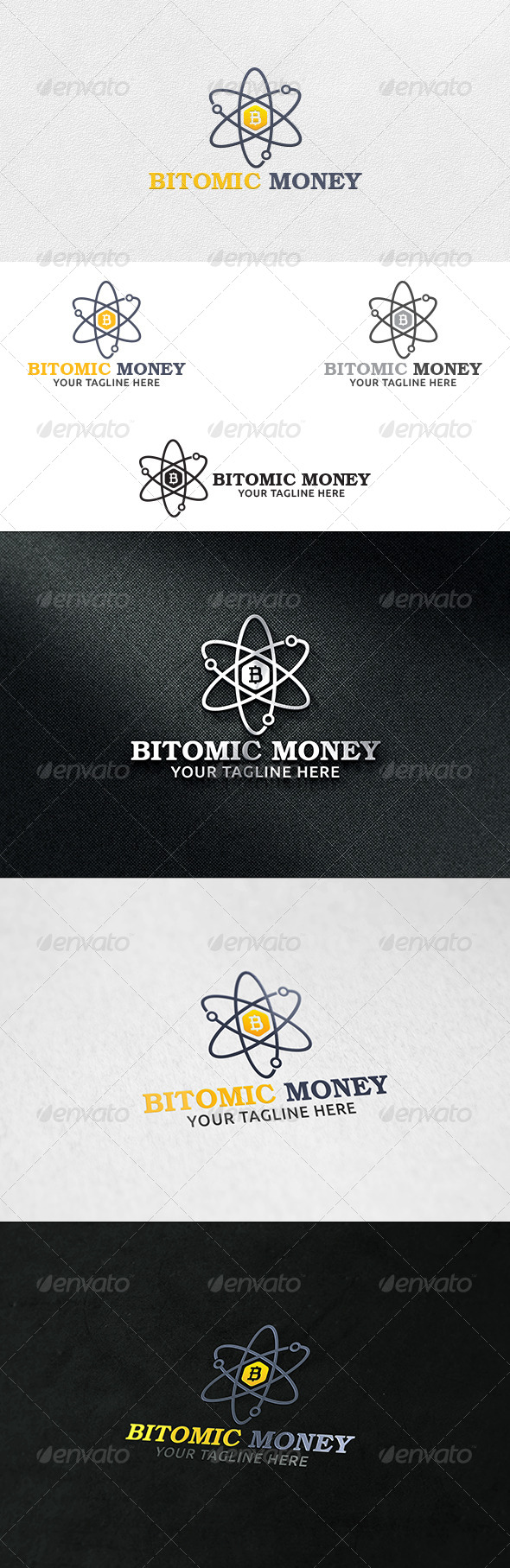 Atomic Money - Logo Template - Symbols Logo Templates