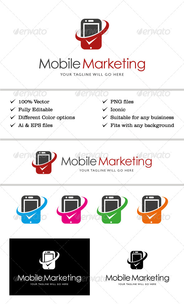 Mobile Marketing Logo - Vector Abstract