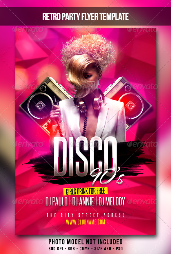 Disco 90S Flyer By Maksn | Graphicriver