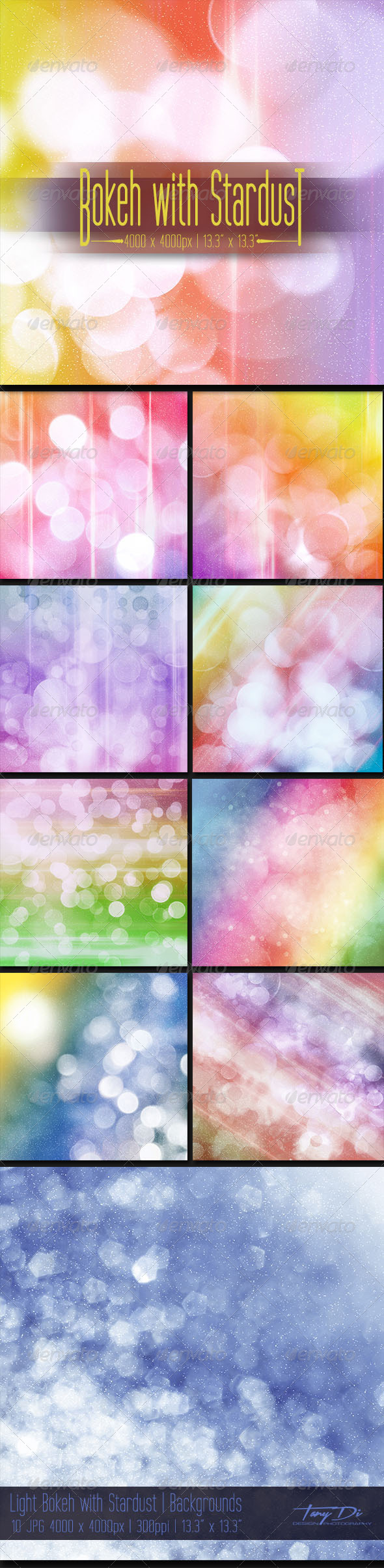Light Bokeh with Stardust - Miscellaneous Backgrounds