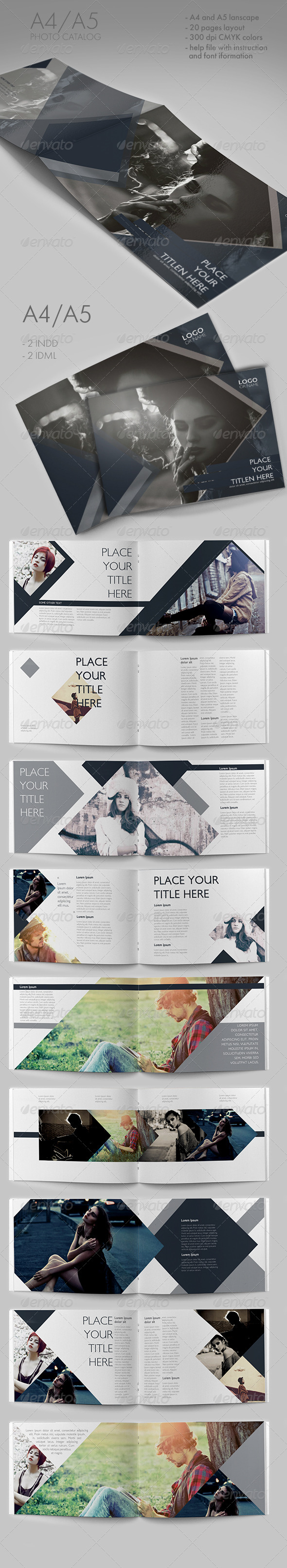Shaped Photo Catalog - Brochures Print Templates