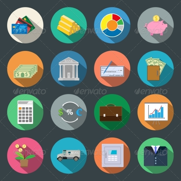 Finance Fat Icons - Miscellaneous Conceptual