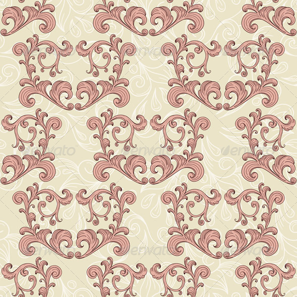Vector Valentine's Seamless Romantic Pattern - Patterns Decorative