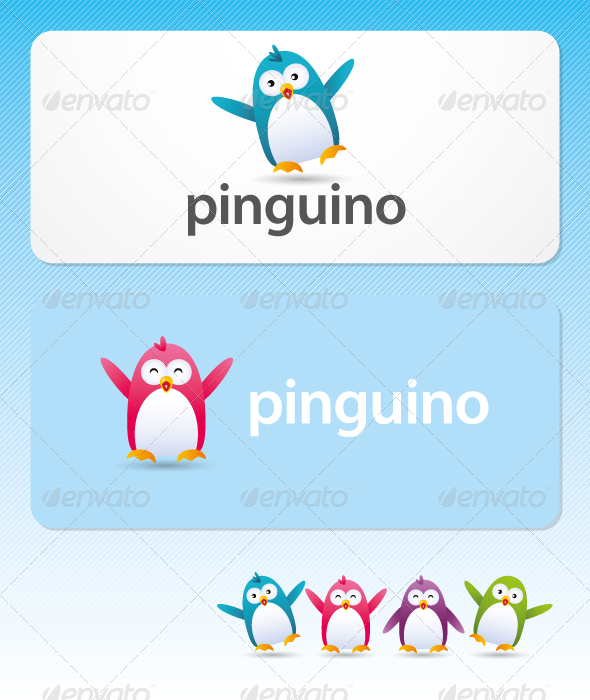 Pinguino - Mascot Logo - Animals Logo Templates